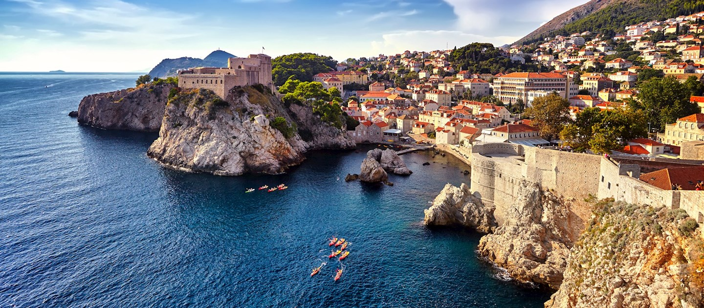 Houses by the Adriatic sea surrounding Croatia